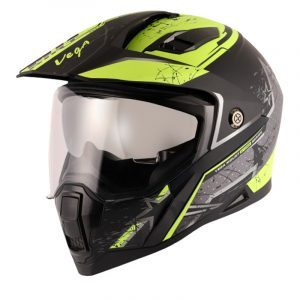Mount D/V MX Dirt Dull Black Neon Yellow Helmet