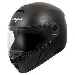 EVO Leather Finish Black Helmet