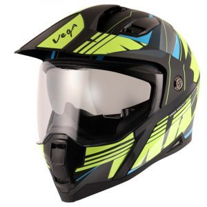 Mount D/V MAX Black Neon Yellow Helmet