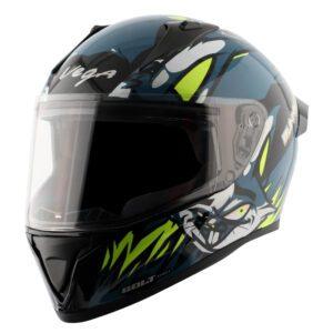 Bolt Bunny Black Blue Helmet