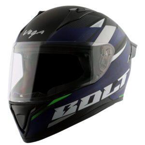 Bolt Finest Dull Black Blue Helmet
