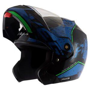 Crux Dx Victor Black Blue Helmet